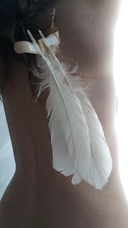 an angel with broken wings