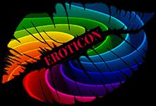 rainbow lips logo with Eroticon written across