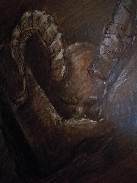 The Feast - Fantasy Art - Goat Boy