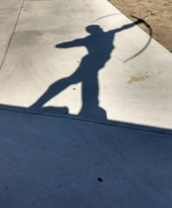 shadow of an archer