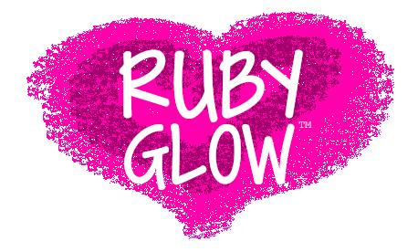 Ruby Glow vibrator heart RG logo pink