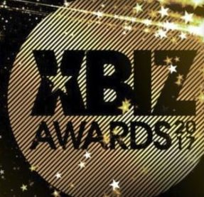 Xbiz gold and black awards 2017 logo with stars