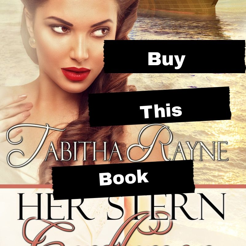 book cover Her Stern Gentleman by Tabitha Rayne with ocean liner and 1950s style woman on the front